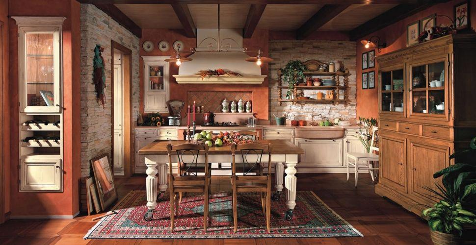 Cucine in pietra good cucina con isola e piani in pietra for Piani di fattoria in stile country