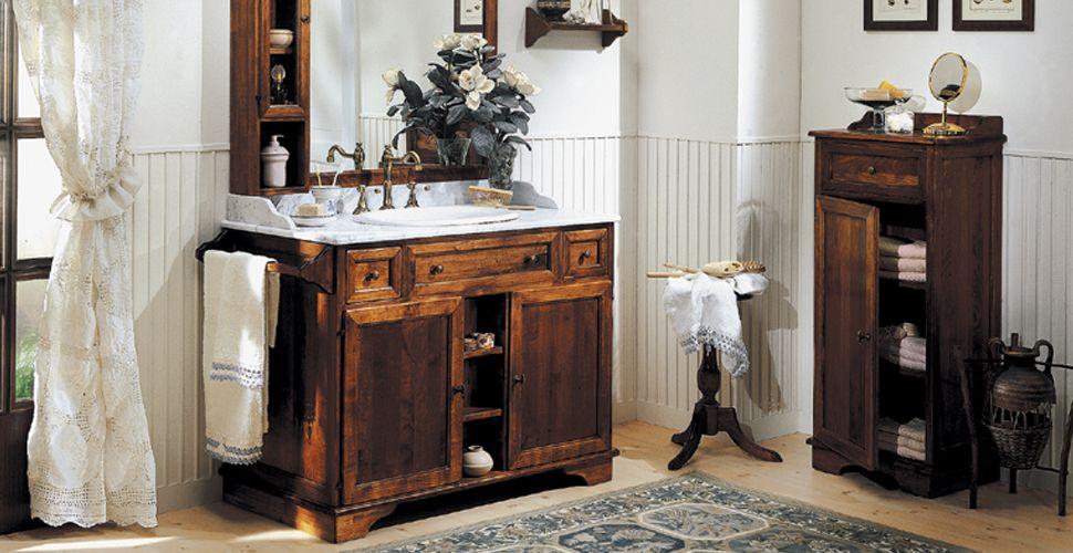Bagni beretta ottavio - Bagno rustico in legno ...