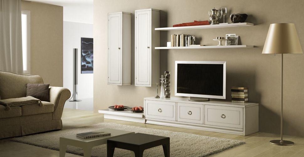 Nuovarredo parete attrezate classiche - Parete attrezzata classica bianca ...